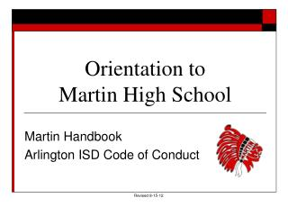 Orientation to  Martin High School