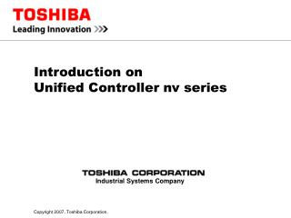 Introduction on  Unified Controller nv series