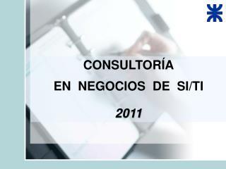 CONSULTORÍA EN  NEGOCIOS  DE   SI/TI 2011
