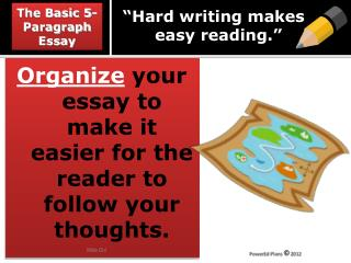 """Hard writing  makes        easy  reading."""