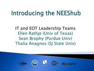 Introducing the  NEEShub