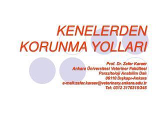 KENELERDEN KORUNMA YOLLARI