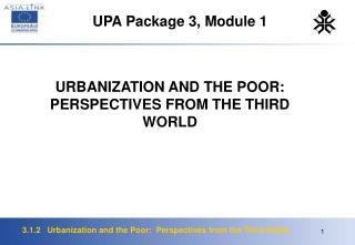 UPA Package 3, Module 1