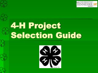 4-H Project Selection Guide