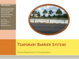 Temporary Barrier Systems