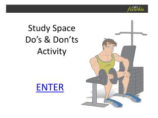 Study Space Do's & Don'ts Activity