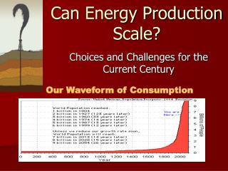 Can Energy Production Scale?