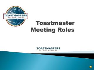 Toastmaster Meeting Roles