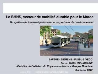Le BHNS, vecteur de mobilit� durable pour le Maroc