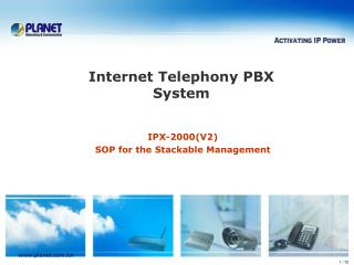 IPX- 2000(V2) SOP for the Stackable Management