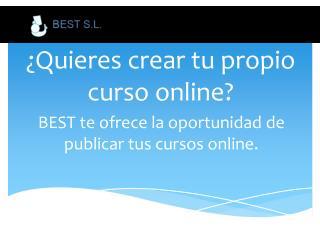 ¿Quieres crear tu propio curso online?