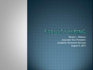 Faculty hiring
