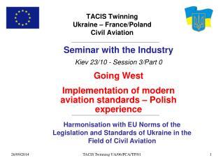 TACIS Twinning  Ukraine – France/Poland Civil Aviation