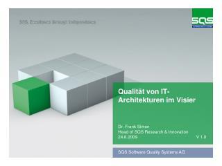 Qualität von IT-Architekturen im Visier