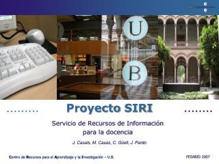 Proyecto  SIRI
