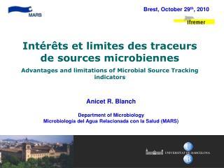 Anicet R. Blanch Department of Microbiology Microbiología del Agua Relacionada con la Salud (MARS)