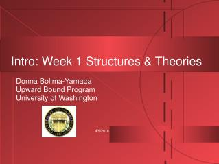 Intro: Week 1 Structures & Theories