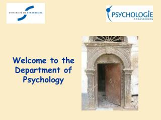 Welcome  to the  Department  of  Psychology