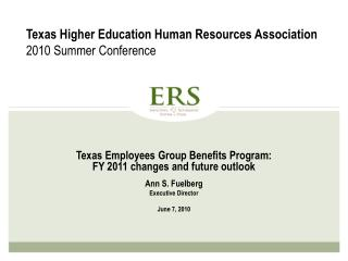 Texas Higher Education Human Resources Association 2010 Summer Conference