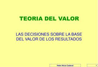 TEORIA DEL VALOR