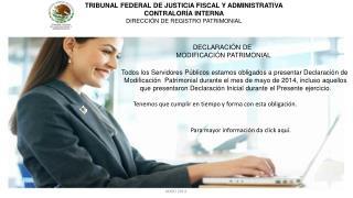 TRIBUNAL FEDERAL DE JUSTICIA FISCAL Y ADMINISTRATIVA CONTRALORÍA INTERNA