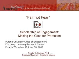 Scholarship of Engagement:  Making the Case for Promotion