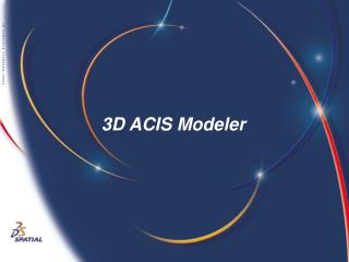 3D ACIS Modeler