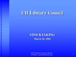 UH  Library  Council