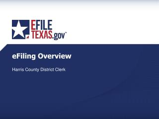 eFiling Overview