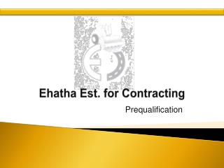Ehatha  Est. for Contracting