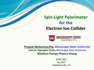 Spin-Light Polarimeter for the Electron Ion Collider