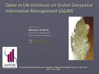 Qatar in UN Initiatives on Global Geospatial Information Management (GGIM)