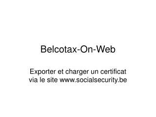 Belcotax-On-Web