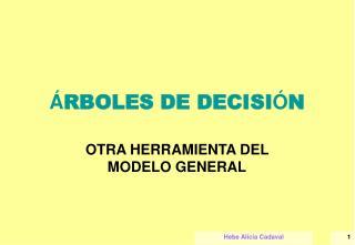 � RBOLES DE DECISI � N
