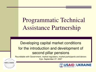 Programmatic Technical Assistance Partnership