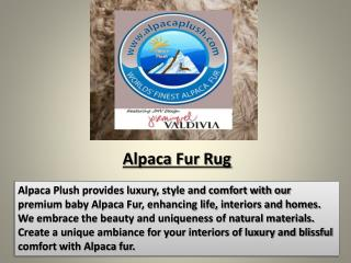 Luxurious Alpaca Rugs