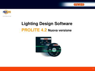 Lighting Design Software PROLITE 4.2 Nuova versione