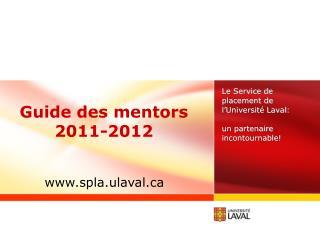 Guide des mentors 2011-2012