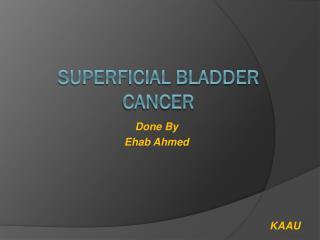 Superficial Bladder Cancer