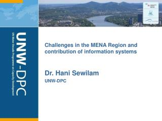 Challenges in the MENA Region and contribution of information systems