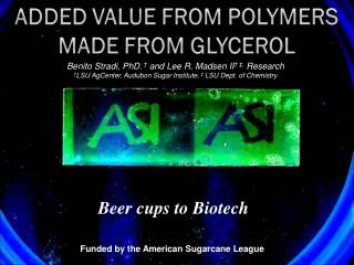 Beer cups to Biotech