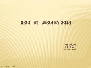G-20   et   UE-28 en 2014