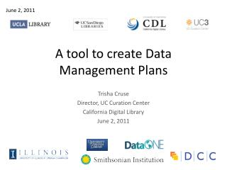 A tool to create Data Management Plans