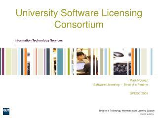 University Software Licensing Consortium