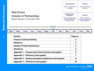 Nick Evans  Director of Partnerships Report produced on 12 November 2009