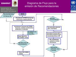 Diagrama de Flujo para la emisi�n de Recomendaciones