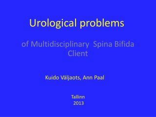 Urological problems