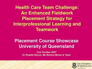 Health Care Team Challenge:
