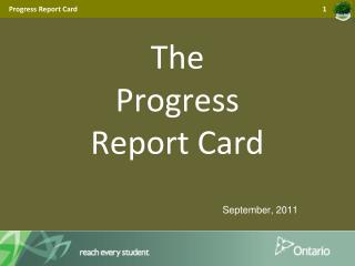 The  Progress  Report Card