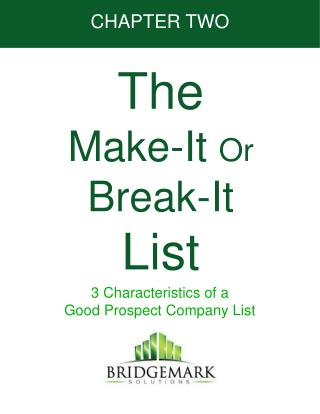 The  Make-It  Or  Break-It List